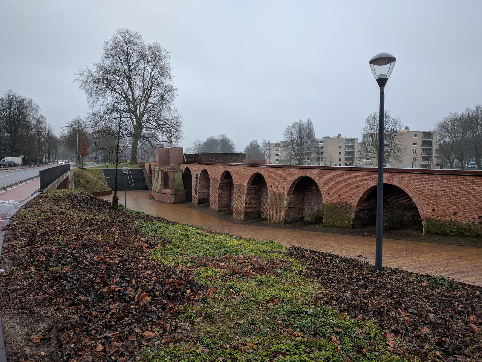 De stadsmuren van 's-Hertogenbosch